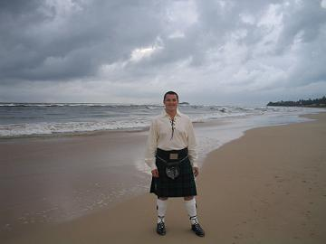 kilt on beach